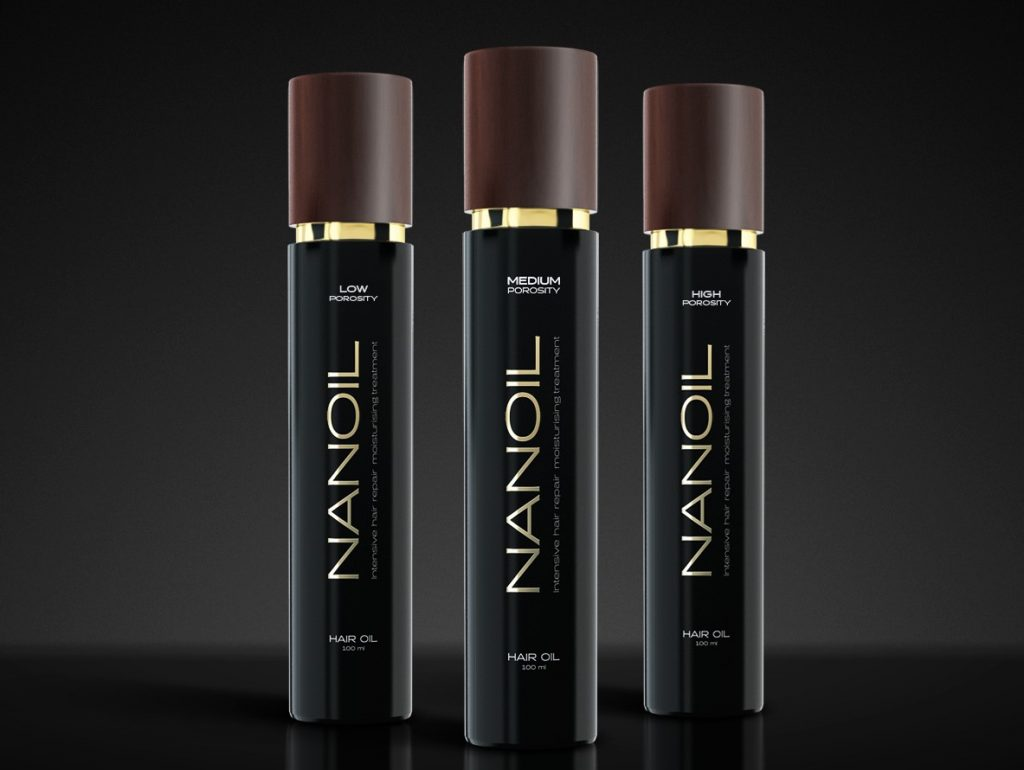 cabello sano con aceite capilar Nanoil
